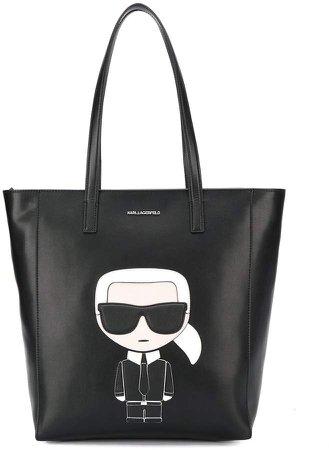 Logo Patch Shopper Tote Bag