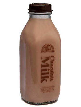 Chocolate Milk Glass Bottle