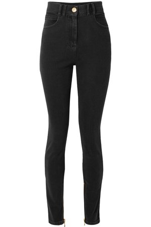 Balmain | High-rise skinny jeans | NET-A-PORTER.COM