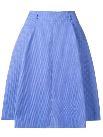 Moschino Pre-Owned Geometric Knit Pleated Skirt - Farfetch
