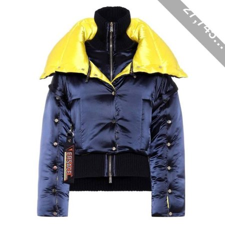 VERSACE two tone puffer jacket