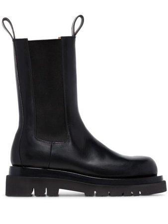Black Bottega Veneta High Ankle Chelsea Boots | Farfetch.com