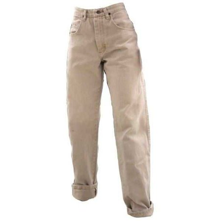 Bagged Khaki Pants Rolled Slightly