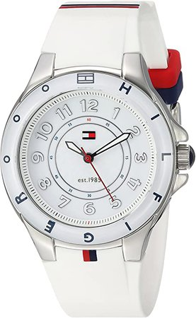 Tommy Hilfiger Women's 1781271 Stainless Steel Watch with White Silicone Band: Tommy Hilfiger: Watches