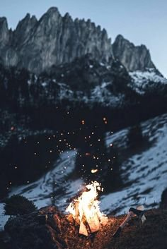 fire and mountains