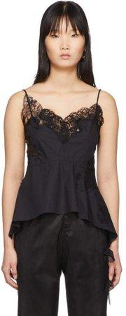 Black Lace Inserts Slip Camisole