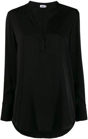 Oversized Long-Sleeve Blouse