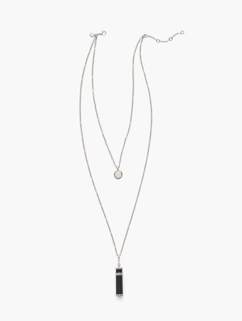 Croc Embossed Charm Necklace | Talbots