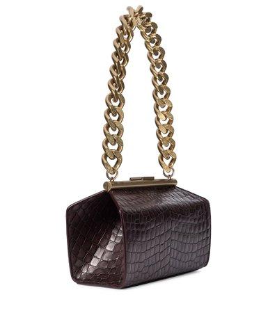 Stella McCartney - Frame croc-effect shoulder bag   Mytheresa