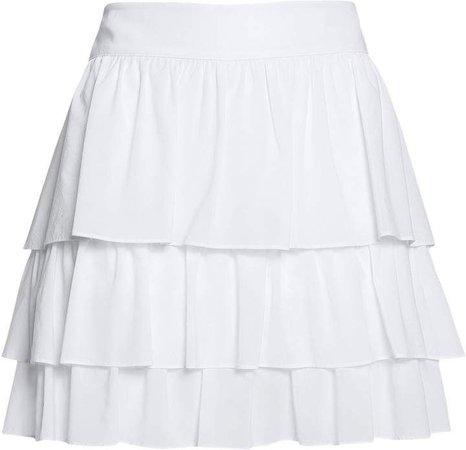 Alice & Olivia White Ruffled Skirt