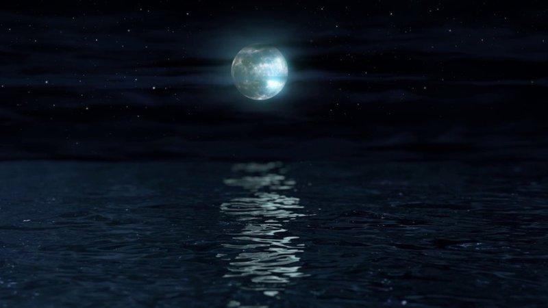 Moon Water Night