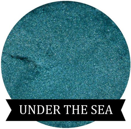 Teal Mineral Eyeshadow UNDER THE SEA | Etsy