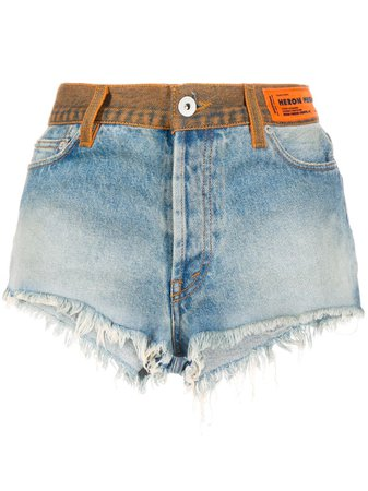 Heron Preston high-waisted Denim Shorts - Farfetch