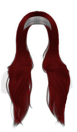 red hair with headband edit png