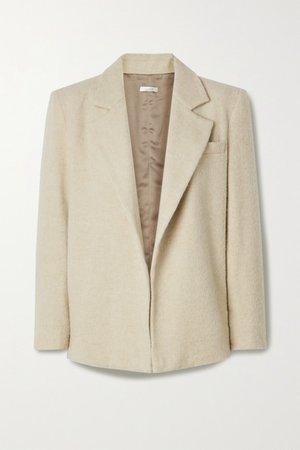 Brushed Wool-blend Blazer - Beige