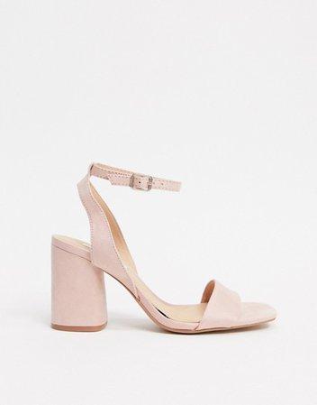 Stradivarius heeled sandal in pink | ASOS