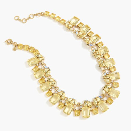 J.Crew: Cluster Drop Stone Necklace For Women in Frosted Citrus