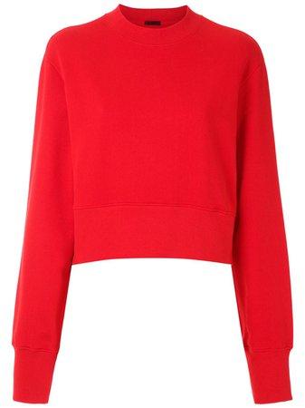 Red Osklen cropped sweatshirt 60489 - Farfetch