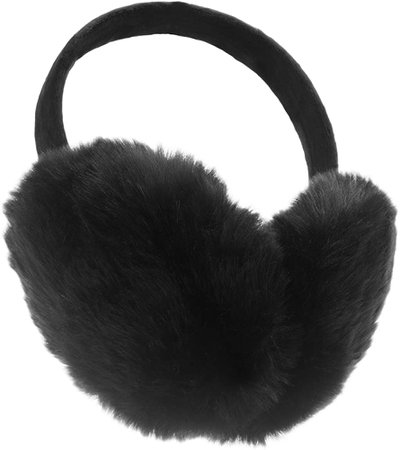 ChikaMika Winter Earmuffs for Women Girls Winter Ear muffs Large Over Ear Foldable EarMuff (Black) at Amazon Men's Clothing store