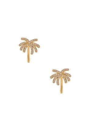 Palm Tree Stud Earring