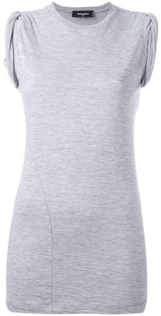 ruched cap sleeve top