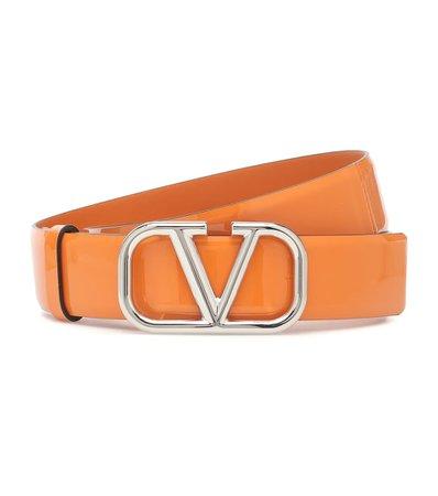 Valentino - Valentino Garavani VLOGO patent leather belt | Mytheresa