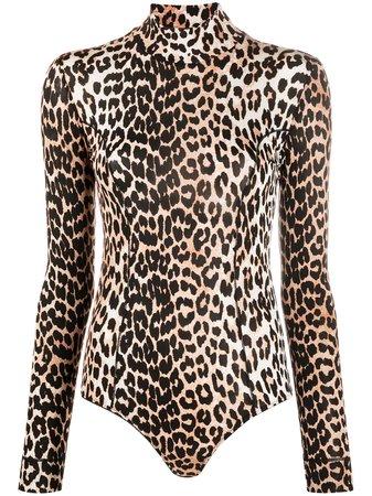 GANNI leopard-print Bodysuit - Farfetch