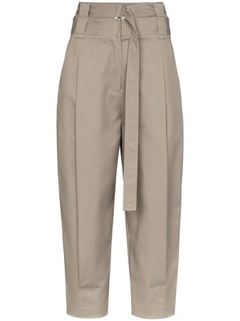 Tibi Myriam High Waist Cotton Trousers - Farfetch