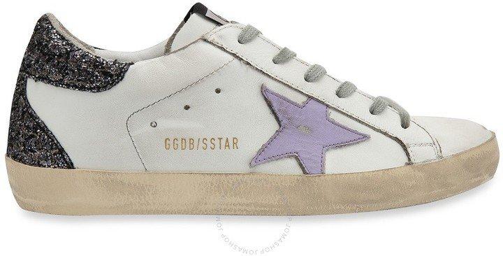 Ladies White Low Top Sneakers