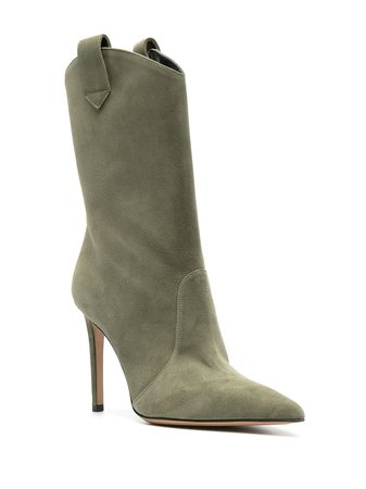 Shop green Alexandre Vauthier Wayne 105mm ankle boots with Express Delivery - Farfetch