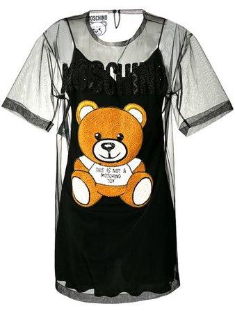 Moschino Teddy Bear Tulle Dress - Farfetch