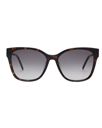 Saint Laurent   Havana Tortoiseshell Sunglasses   INTERMIX®