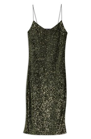 Topshop Sequin Midi Dress | Nordstrom