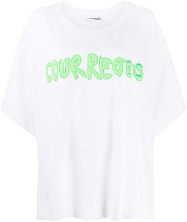 embroidered logo cotton T-shirt