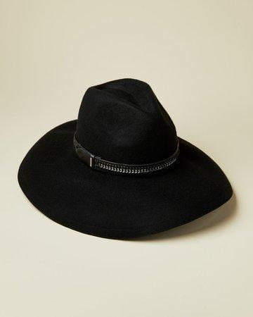Floppy wool hat - Black | Hats | Ted Baker ROW