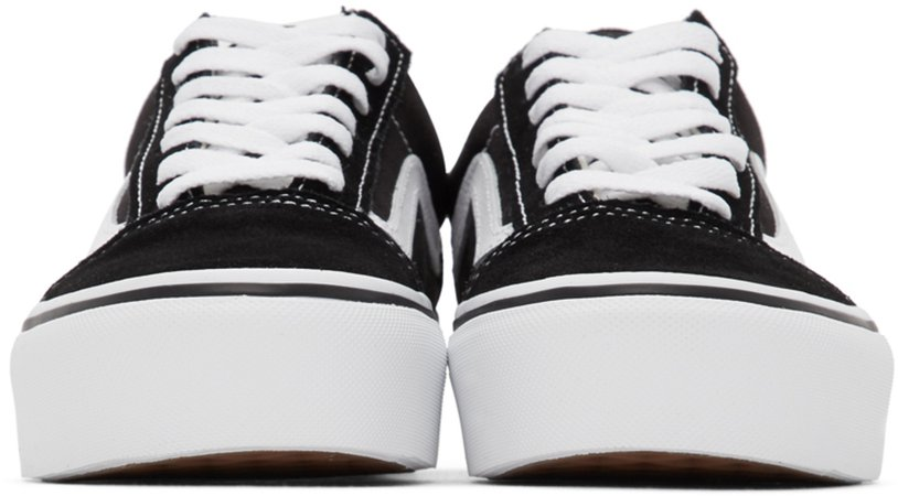 Vans: Black Old Skool Platform Sneakers | SSENSE UK