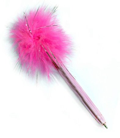 Pink fluffy pen.