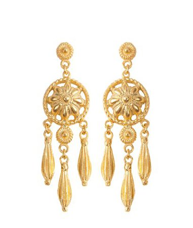 Etoile Coral Zoe Gold-plated Silver Earrings < Etoile Coral List | aesthet.com