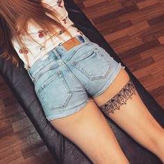 Garter tattoo | Tattoos, Elegant tattoos, Leg tattoos