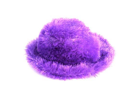 90's Purple Fuzzy Hat