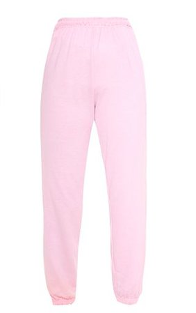 Baby Pink Casual Jogger | Pants | PrettyLittleThing USA