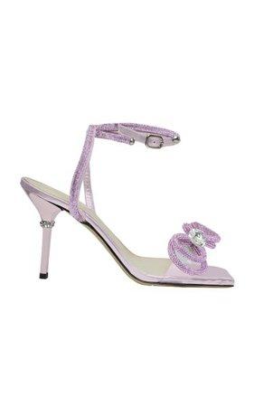 Double Bow Crystal-Embellished Pvc Sandals By Mach & Mach   Moda Operandi