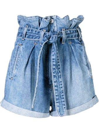 Re/Done x The Attico |  Paper Bag Denim Shorts - Farfetch