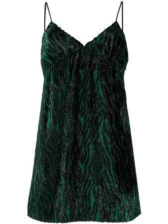 Saint Laurent animal print mini dress