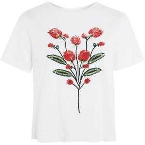 Topshop Rose Embellished T-Shirt