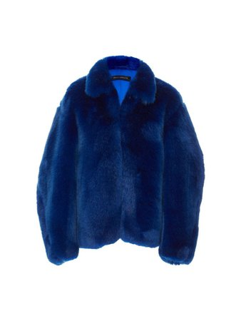 Dark blue fur jacket