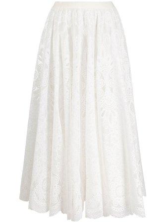 RED Valentino high-waisted Midi Skirt - Farfetch