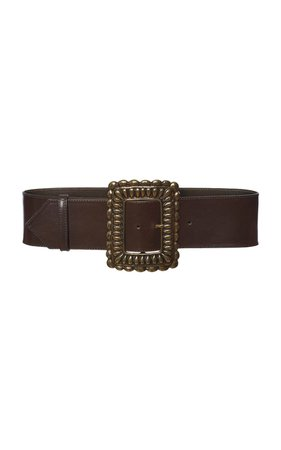 Oversized-Buckle Leather Belt by Etro | Moda Operandi