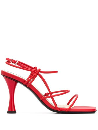 Proenza Schouler Strappy High Heel Sandals PS34051A11003 Red | Farfetch