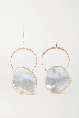 Gold 14-karat gold pearl earrings | Melissa Joy Manning | NET-A-PORTER